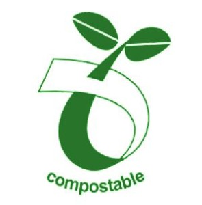 Bioplastic compostable logo