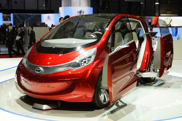 Electric cars on indian road for Tata motors electric car