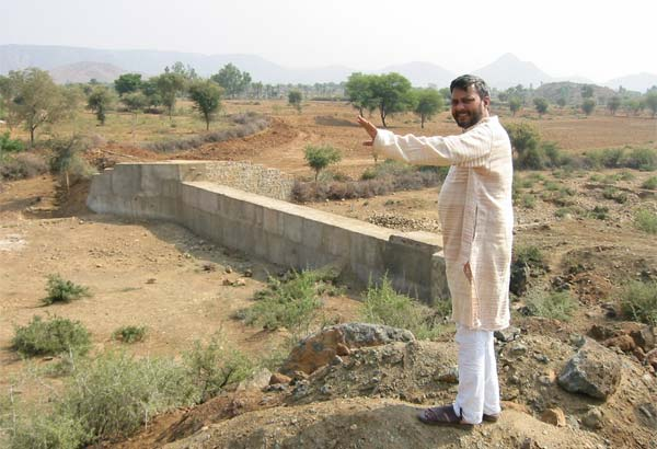 Johad Check Dam - Traditional Water Conservation India