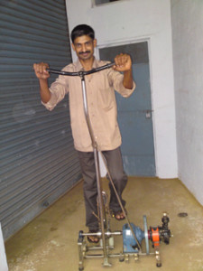V S Praveen – Pedal Powered Water Lifting Machine