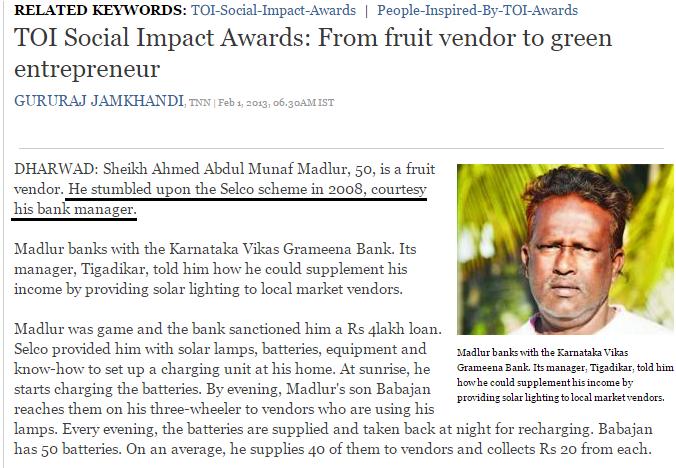 Impact of SELCO-India