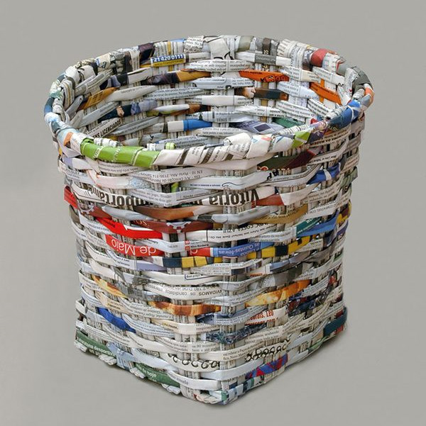 10 ways to re use waste paper for Uses waste material art craft