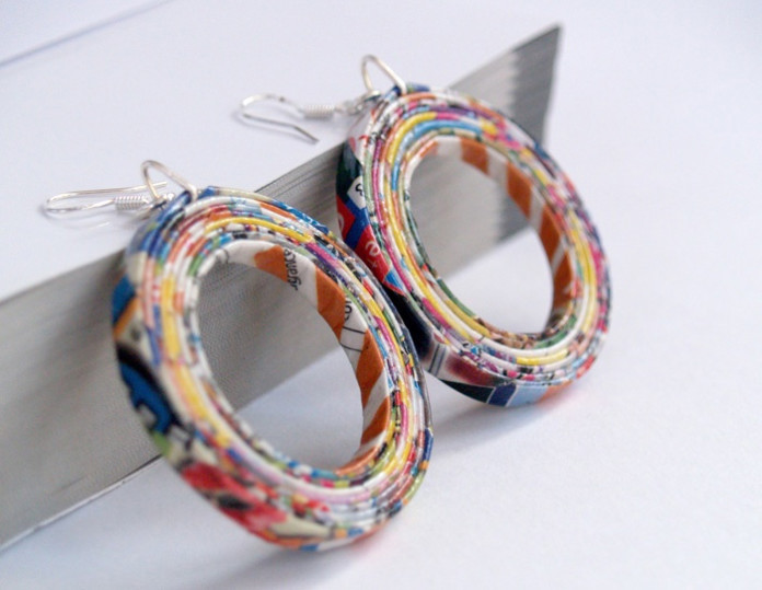 10 ways to re use waste paper for Best out of waste ideas from bangles