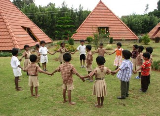 The Pyramid School Paranga Vidya Kendra children