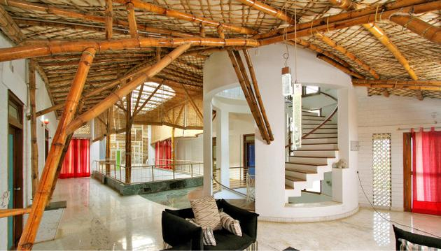 Bamboo for housing and home furnishings for Bamboo roofing materials