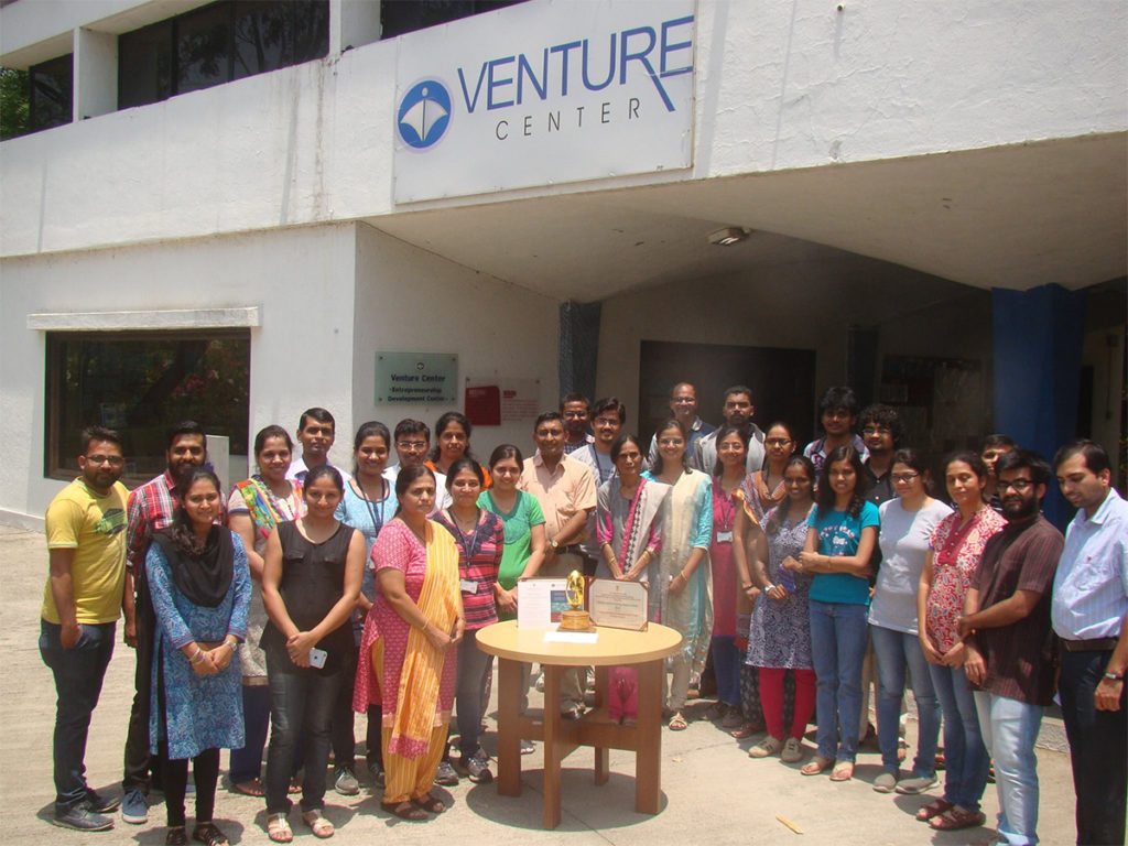 The Venture Center Team with the National Award