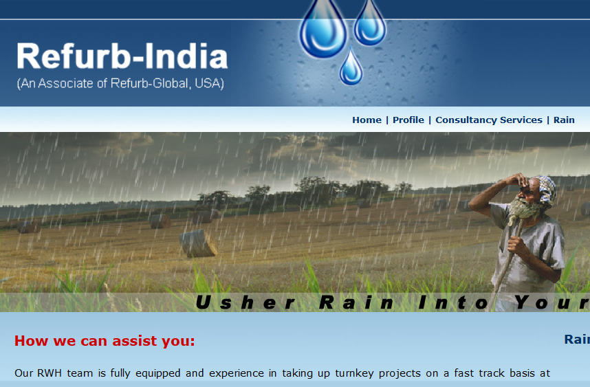 Refurb-India Rainwater Harvesting