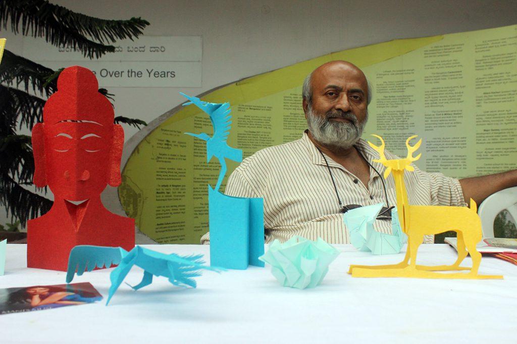 Bengaluru-mini-maker-faire-kirigami-vss-shastry